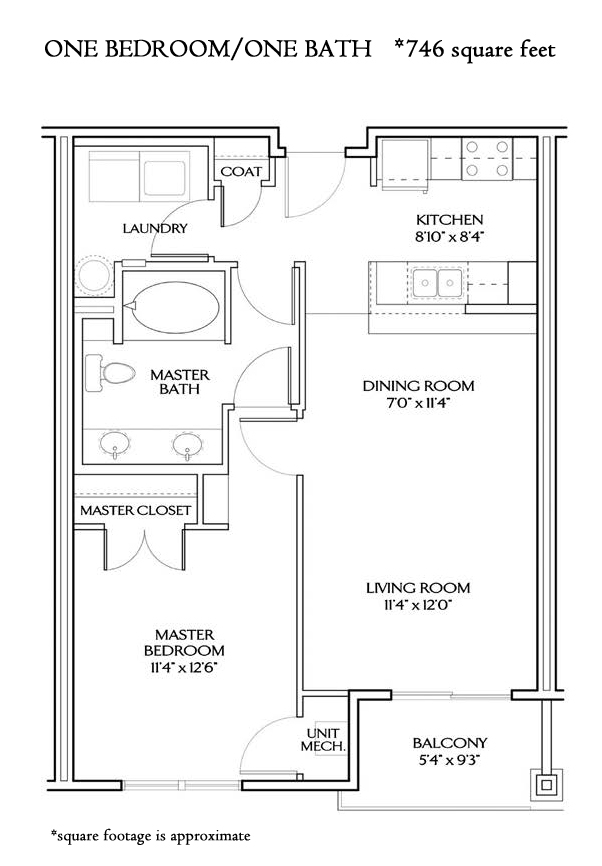 The Pacific ONE BEDROOM STANDARD (746 sqft)