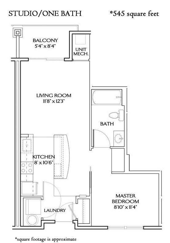 STUDIO B (544 sqft)