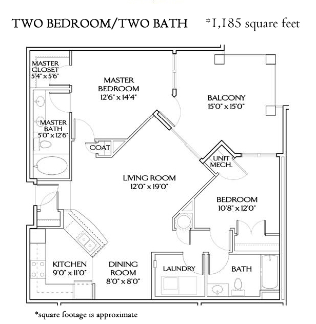 THE ATLANTIC TWO BEDROOM CORNER (1185 sqft)